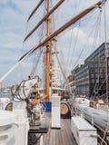 Nave alta portuguesa Sagres en la vela 2015 Foto de archivo libre de regalías