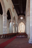 Nave, altar and apse of the Santo Agostinho da Graca church. Royalty Free Stock Images