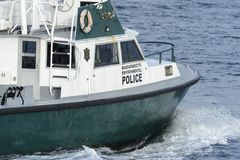 Nave ambientale Jessie della polizia di Massachusetts Fotografie Stock Libere da Diritti