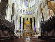 Nave of Amiens Cathedral, France Royalty Free Stock Photo