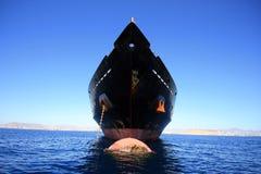 Nave ancorata Fotografie Stock Libere da Diritti