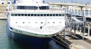 Nave ancorata in porto Immagine Stock Libera da Diritti