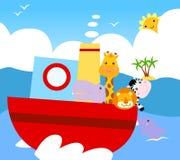 Nave animale illustrazione di stock