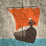 Nave antica greca illustrazione vettoriale