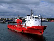 Nave appoggio offshore K Immagini Stock Libere da Diritti