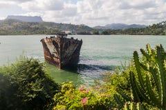 Nave arruinada en Baracoa, Cu fotos de archivo