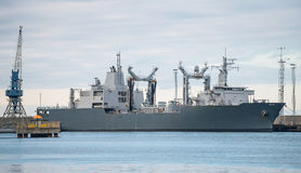 Nave auxiliar naval Imagen de archivo libre de regalías