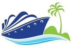 Nave azul ilustración del vector