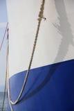 nave Azul-blanca Imagenes de archivo