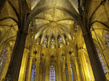 Nave of Barcelona Cathedral Royalty Free Stock Photos
