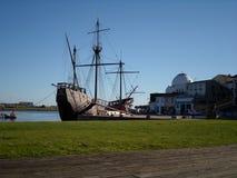 Nave, barco de Vila do Conde Foto de archivo