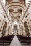 Nave of the Basilica of the Mafra National Palace. Stock Image