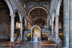 Nave of Basilica San Miniato al Monte in Florence Stock Image