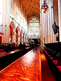 The Nave at Bath Abbey. The Abbey Church of Saint Peter and Saint Paul, Bath, commonly known as Bath Abbey, is an Anglican parish church and a former Benedictine Royalty Free Stock Image