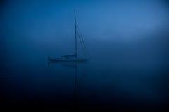 Nave blu Fotografia Stock