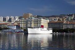 Nave Botel en Rijeka, Croacia Fotografía de archivo