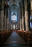 Nave of Cathedral in Cologne - Easter Stock Photos Stock Photography