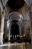 Nave of Cathedral in Ferrara, Italy Royalty Free Stock Photo