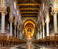 Nave of the Cathedral of Monreale Royalty Free Stock Image