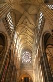 Nave of cathedral royalty free stock photography