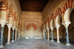 Nave centrale, Medina Azahara, Spagna. Fotografie Stock Libere da Diritti
