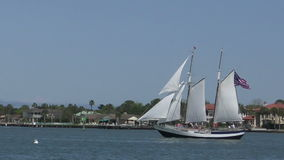 Nave cerca de St Augistine, la Florida almacen de video