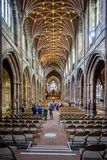 Nave of Chester Cathedral stock photography