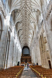 The nave and the choir, Winchester Cathedral Stock Photos
