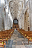 The nave and the choir, Winchester Cathedral Stock Photography
