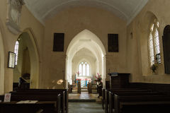 Nave of Church of The Blessed Virgin Mary in Somerset Stock Photography