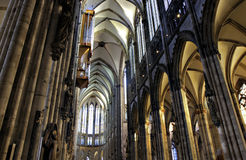 Nave of Cologne Cathedral Stock Image