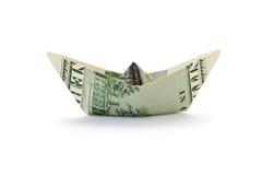 Nave con el dinero Fotografía de archivo libre de regalías