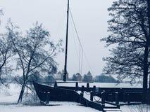 Nave congelata fotografia stock libera da diritti