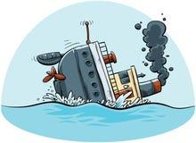 Nave d'affondamento illustrazione vettoriale