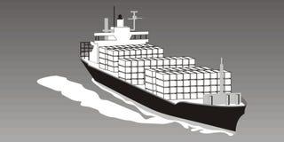 Nave da carico illustrazione di stock