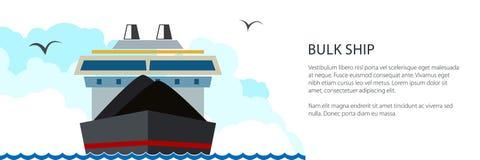 Nave da carico asciutta dell'insegna illustrazione di stock