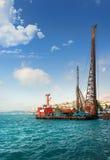 Nave da carico a Costantinopoli Fotografie Stock