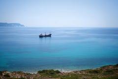 Nave da carico in Mar Egeo Fotografia Stock Libera da Diritti