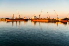 Nave da carico nel porto Fotografia Stock Libera da Diritti