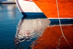 Nave da crociera all'isola di Mykonos Fotografie Stock