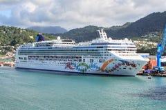 Nave da crociera caraibica Fotografie Stock Libere da Diritti