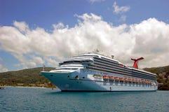 Nave da crociera caraibica Immagine Stock Libera da Diritti