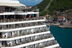 Nave da crociera caraibica reale Fotografie Stock Libere da Diritti