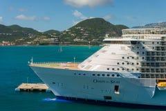 Nave da crociera caraibica reale Fotografia Stock Libera da Diritti