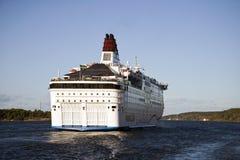 Nave da crociera che lascia Stoccolma Fotografia Stock Libera da Diritti