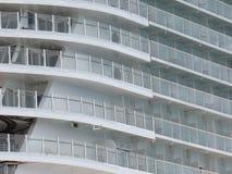 nave da crociera dei balconi Fotografia Stock