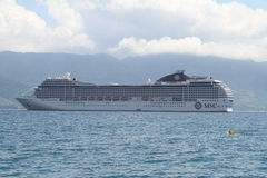 Nave da crociera del MSC Ilhabela - nel Brasile Fotografia Stock
