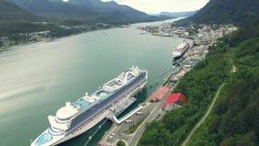 Nave da crociera dell'Alaska archivi video