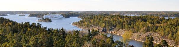Nave da crociera dell'arcipelago di Stoccolma Fotografie Stock