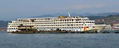 Nave da crociera dell'oro di Yangtze Immagine Stock Libera da Diritti